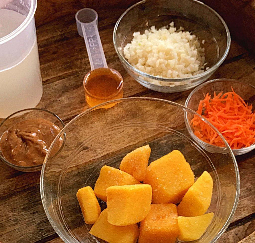 tropical mango carrot smoothie