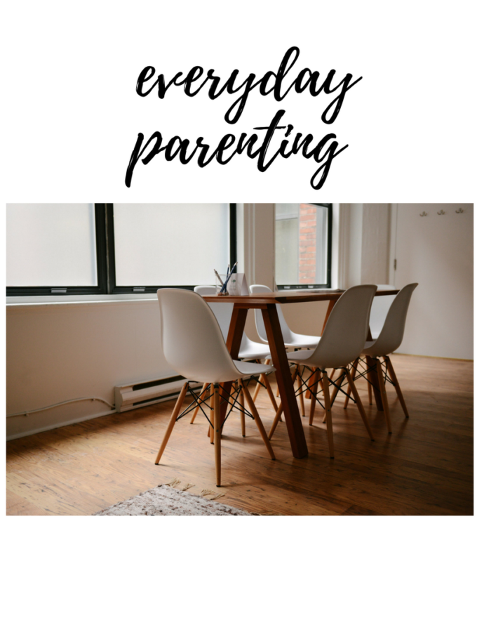 everyday parenting and empty breakfast table