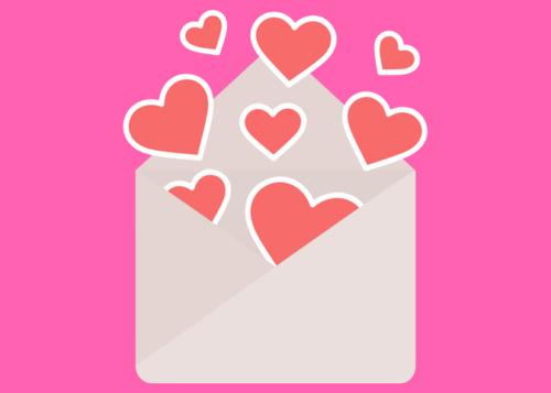 Valentine Envelope Graphic