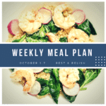 Rest & Relish Weekly Meal Plan - October 1 - 7, 2018