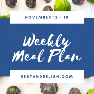 Rest & Relish Weekly Meal Plan - November 12 -18