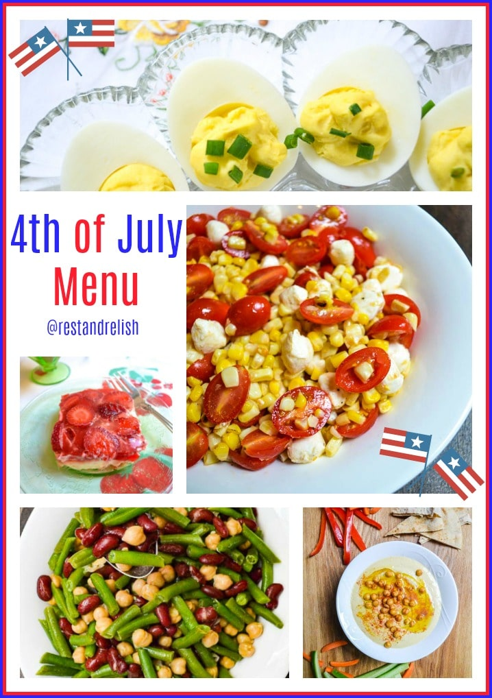 Fourth of July Menu collage