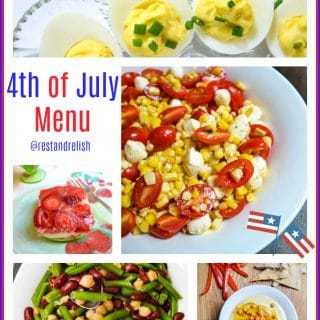 4th of July Menu Collage @restandrelish