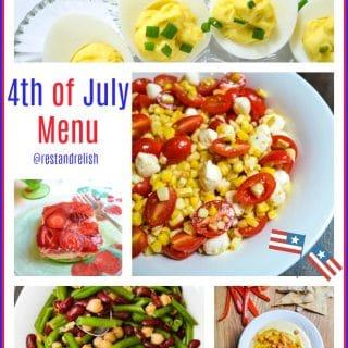 4th of July Menu Collage @restandrelish