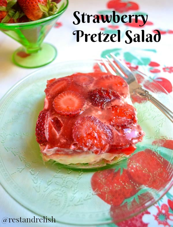 Slice of Strawberry Pretzel Salad